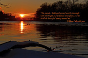 Bryant Originals - Inspirational Sunset with quote by Sue Stefanowicz