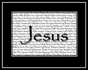 Jesus Digital Art Originals - Inspirations Jesus Black by Abigail Bree