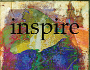 Art Word Metal Prints - Inspire Metal Print by Ann Powell
