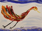 Mary Carol Williams Drawings - Inspired by Calders Only Only Bird by Mary Carol Williams