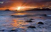 Sunset Seascape Framed Prints - Inspired Light Framed Print by Mike  Dawson