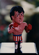 Boxer Sculpture Prints - Inspired Rocky Print by Joaquin Carrasquilla