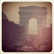 Iphonesia Posters - Instagram Photo - lArc de Triomphe - Paris Poster by Marianna Mills