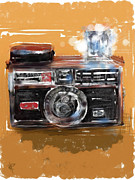 Film Camera Mixed Media Prints - Instamatic Print by Russell Pierce