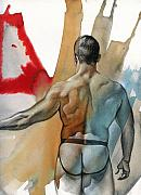 Male Nude Art Posters - Instant 3 Poster by Chris  Lopez