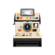 Toy Camera Posters - Instant Camera Poster by Setsiri Silapasuwanchai