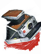 Film Camera Mixed Media Prints - Instant Fun Print by Russell Pierce
