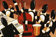 Jamming Framed Prints - Instrumental Harmony Framed Print by Lori McPhee