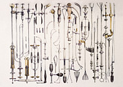 N.h. Prints - Instruments For Removing Bladder Stones Print by Mehau Kulyk