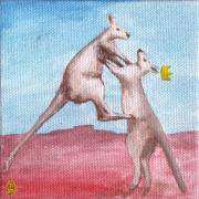 Kangaroo Paintings - Insurrection by Daniel Wall