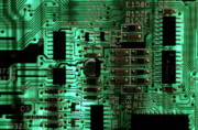 Integrated Circuit Board From A Computer Print by Sami Sarkis