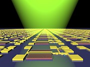 Electronic Photos - Integrated Nanowire Circuit, Artwork by Lawrence Berkeley National Laboratory
