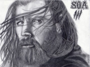 Opie Drawings - Intensity by Aaron Freeman