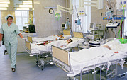 Depressed Prints - Intensive Care Ward For Children Print by Ria Novosti