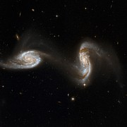 Merging Metal Prints - Interacting Galaxies Ngc 5257 And 5258 Metal Print by Stsciaurahubble Collaborationa. Evans (university Of Virginia, Charlottesville;nrao;stony Brook University)nasa