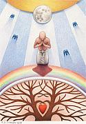 Prayer Drawings - Intercessory Circle by Amy S Turner