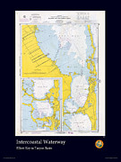 Nautical Chart Photos - Intercoastal-Tarpon Basin by Adelaide Images