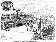 Finish Line Metal Prints - Intercollegiate Game, 1881 Metal Print by Granger