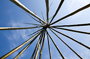 Frame House Photos - Interior Frame of Teepee by Paul Edmondson