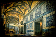 Byzantine Posters - Interior Narthex Poster by Joan Carroll