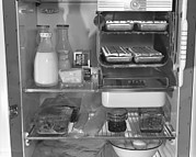 Bsloc Photos - Interior Of A 1940s Refrigerator by Everett