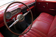 World Locations Posters - Interior of a classic American car Poster by Sami Sarkis