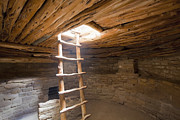 Mesa Verde Photos - Interior of a Native American Cliff Dwelling by Bryan Mullennix