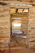 Log Cabin Photos - Interior of a Pioneer Cabin by Bryan Mullennix