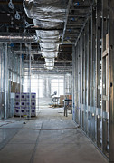 Work Site Posters - Interior of Building Under Construction Poster by Don Mason