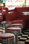 55-59 Years Posters - Interior Of Diner Poster by Radius Images