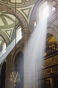 Streaming Light Prints - Interior of Mexico City Metropolitan Cathedral Print by Jeremy Woodhouse