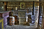 Old Miner Framed Prints - INTERIOR of OLD-WEST CHINESE STORE - NEVADA CITY MONTANA Framed Print by Daniel Hagerman