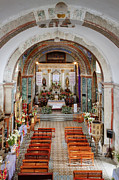 Religious Art Photo Metal Prints - Interior of Preciosa Sangre de Cristo Church Metal Print by Jeremy Woodhouse