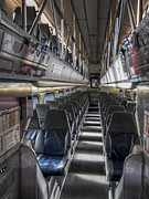 Stanford Metal Prints - INTERIOR of SILICON VALLEY PASSENGER CALTRAIN - CALIFORNIA Metal Print by Daniel Hagerman