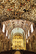 Art Of Building Acrylic Prints - Interior of the Church of Santo Domingo Acrylic Print by Jeremy Woodhouse
