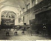 Dining Hall Prints - Interior of the dining hall of the Church of Santa Maria delle Grazie Milan Print by Alinari