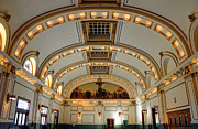 Rail Line Prints - Interior of Union Pacific Railroad Depot - Salt Lake City Print by Gary Whitton