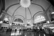 Wetmore Prints - Interior Of Union Station Via Rail Canada Downtown Winnipeg Manitoba Canada Print by Joe Fox