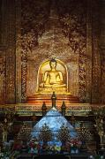 Singh Prints - Interior Of Wat Phra Singh Temple Print by Keith Levit
