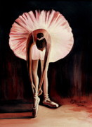 Ballet Dancer Mixed Media Posters - Interlude Poster by Elizabeth Robinette Tyndall