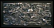 Surrealism Reliefs Metal Prints - Internal Combustion 2 Metal Print by Jud  Turner