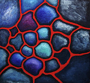 Cells Framed Prints - Internalscape- Abstract Cells Framed Print by Nancy Mueller