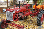 Red Tractors Prints - International Harvester McCormick Farmall Cub Farm Tractor . 7D10309 Print by Wingsdomain Art and Photography