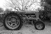 Black And White Photographs Photos - International Harvester McCormick Farmall Farm Tractor . 7D10320 . black and white by Wingsdomain Art and Photography