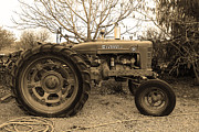 Brentwood Photos - International Harvester McCormick Farmall Farm Tractor . 7D10320 . sepia by Wingsdomain Art and Photography