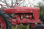 Red Tractors Posters - International Harvester McCormick Farmall Farm Tractor . 7D10321 Poster by Wingsdomain Art and Photography
