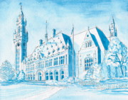 Justice Drawings - International Peace Palace by V E Delnore