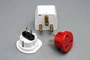Electric Plug Prints - International Plug Adapters Print by Sheila Terry