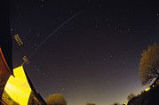 Stars Trail Prints - International Space Station Trail Print by Laurent Laveder