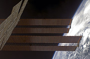 Curvature Photos - International Space Stations Solar by Stocktrek Images